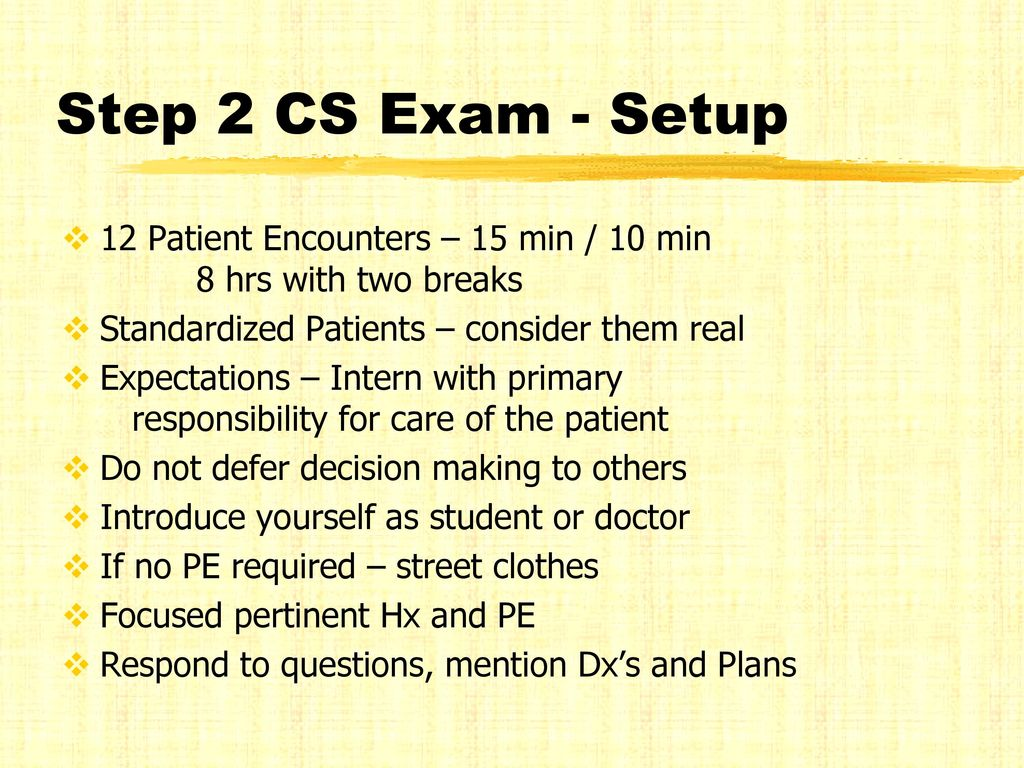 Everything I need to know about OSCE and Step 2 CS Exams - ppt download