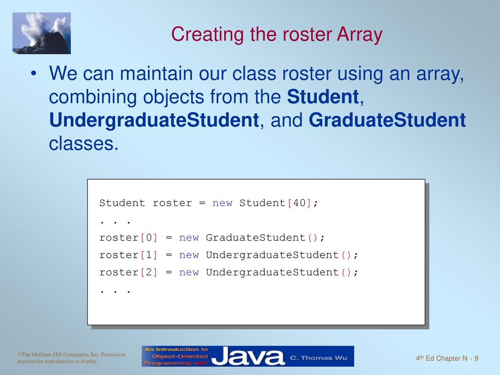 Intro to OOP with Java, C  Thomas Wu Inheritance and