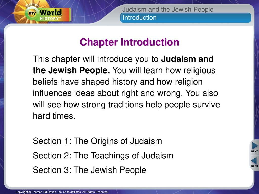 Religions of the world - Judaism, basic ideas and regulations
