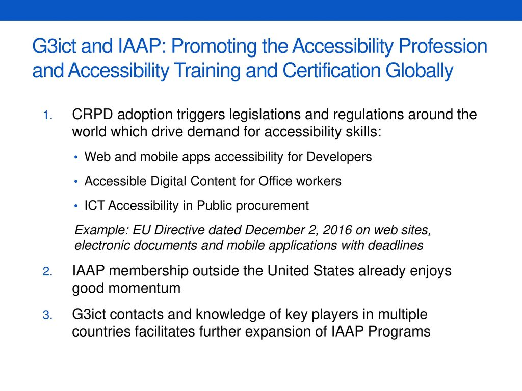 New Iaap Professional Certifications For Accessibility Ppt Download