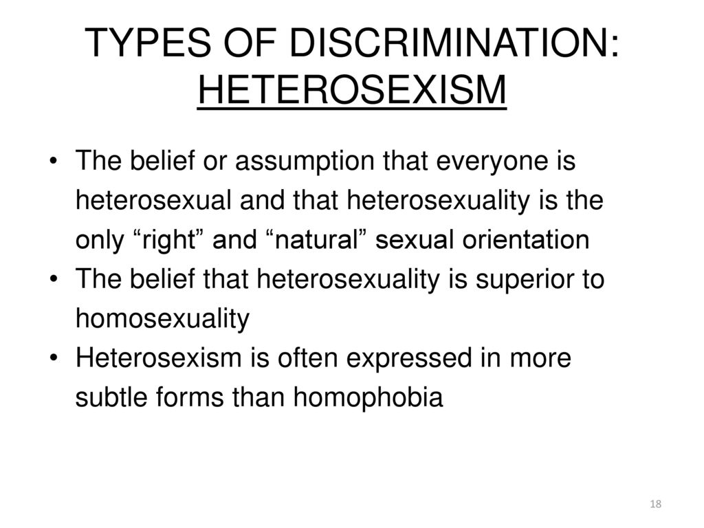 sexual orientation descrimination 2018-10-9 the equality act 2010 says you must not be discriminated against because: you are heterosexual, gay, lesbian or bisexual someone thinks you have a particular sexual orientation (this is known as discrimination by perception.