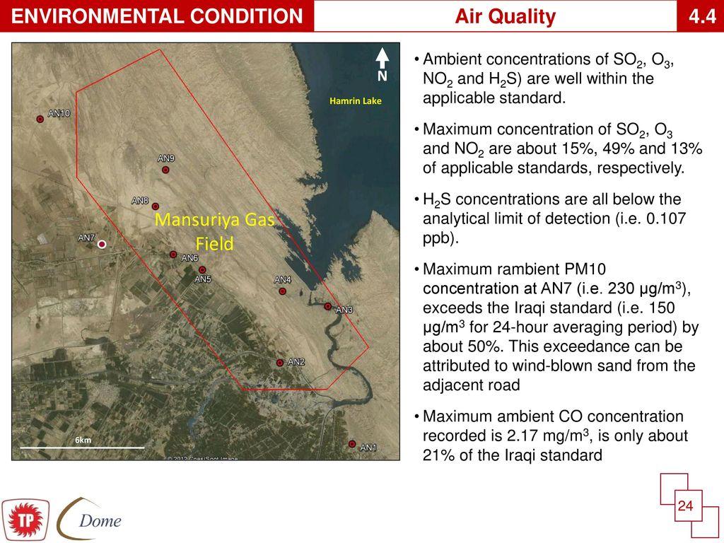 MANSURIYA GAS PROJECT ENVIRONMENTAL IMPACT ASSESSMENT - ppt