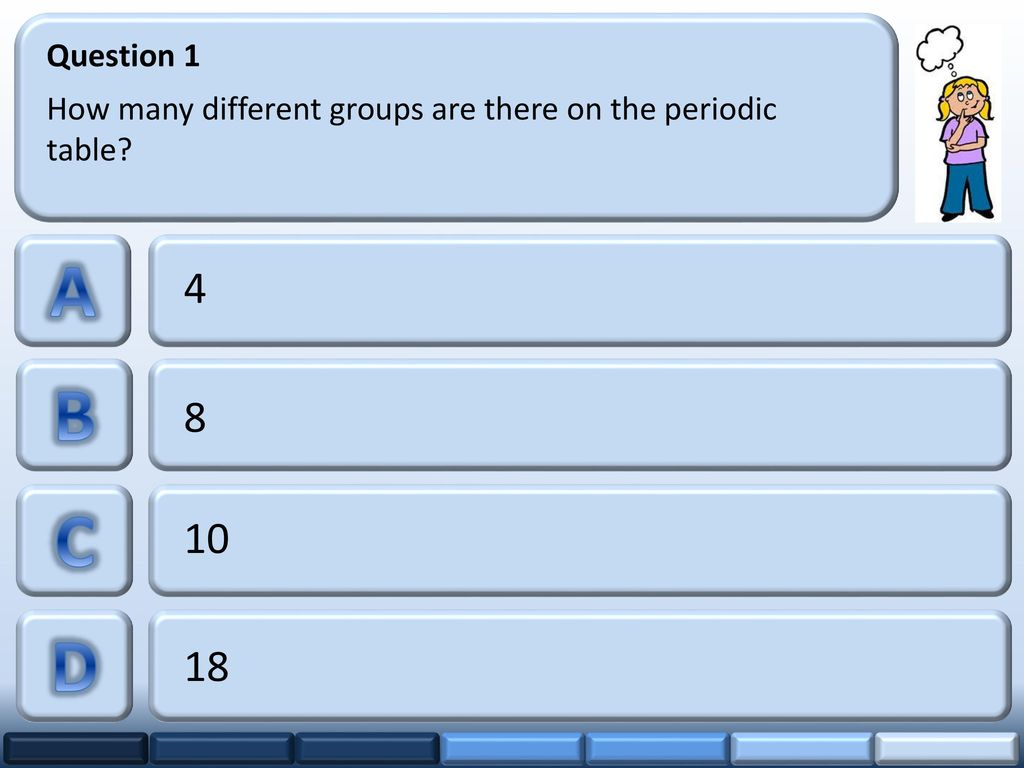 Question 1 How Many Different Groups Are There On The Periodic Table