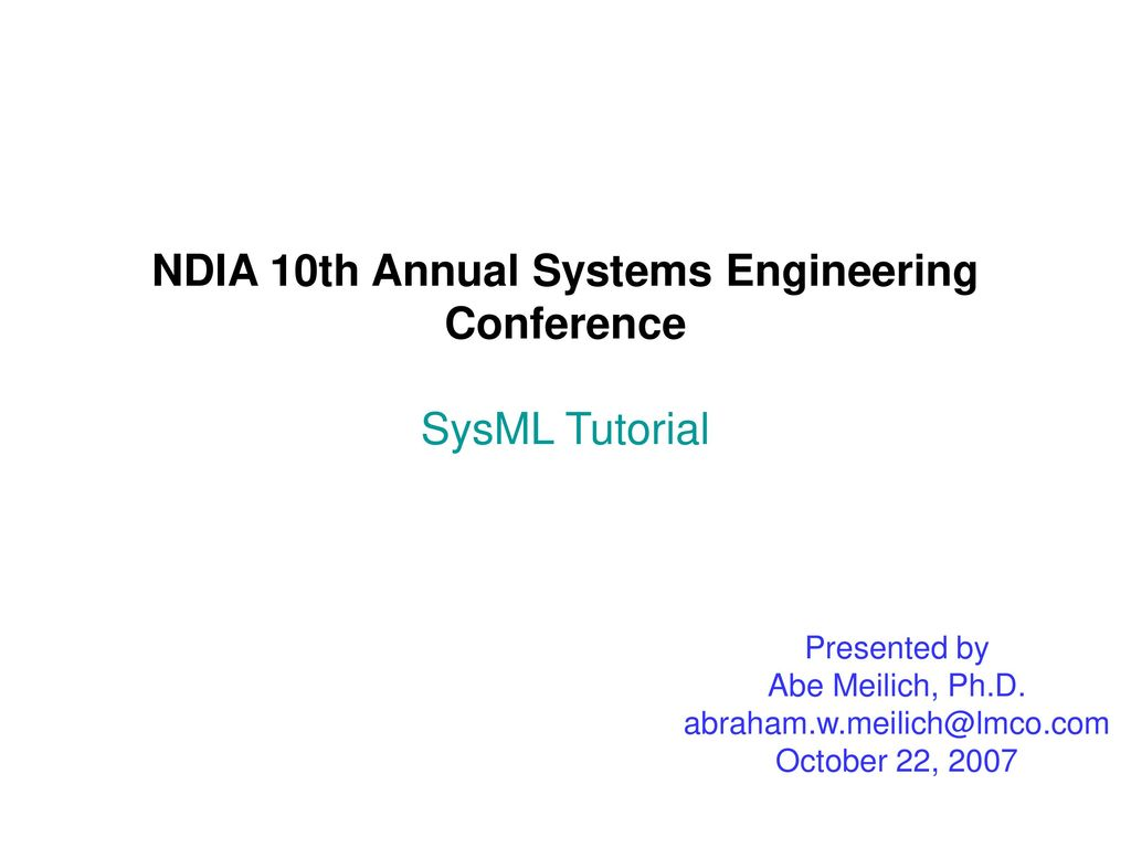 Deployment of sysml in tools and architectures: an industry.