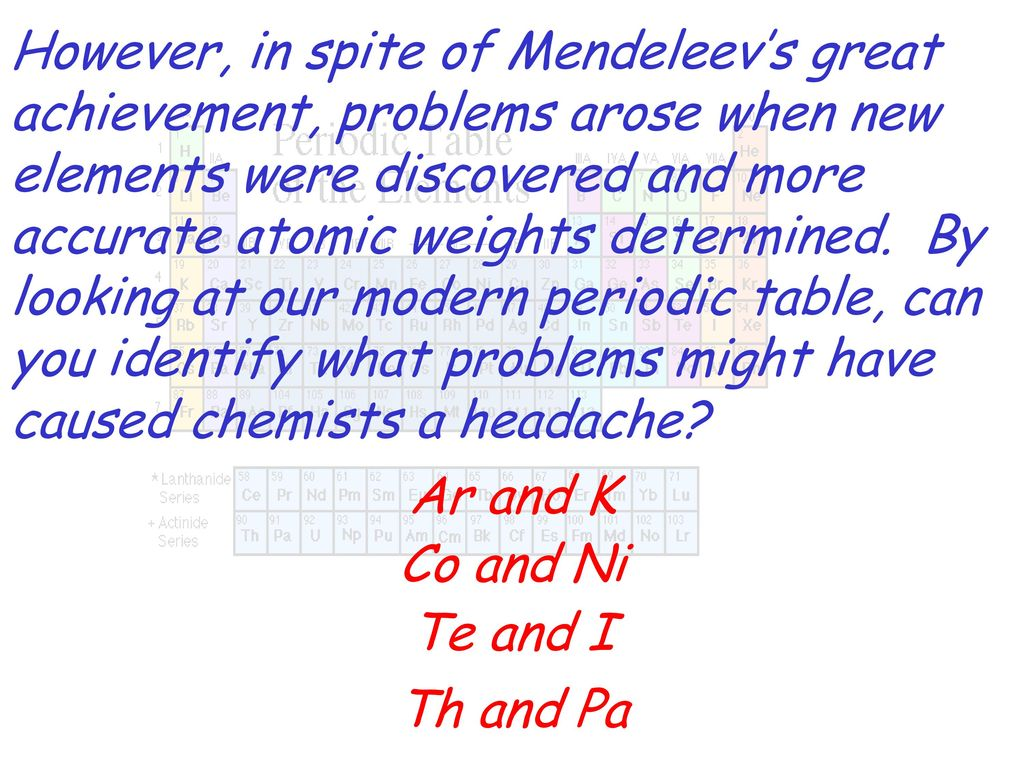 The History Of The Modern Periodic Table Ppt Download