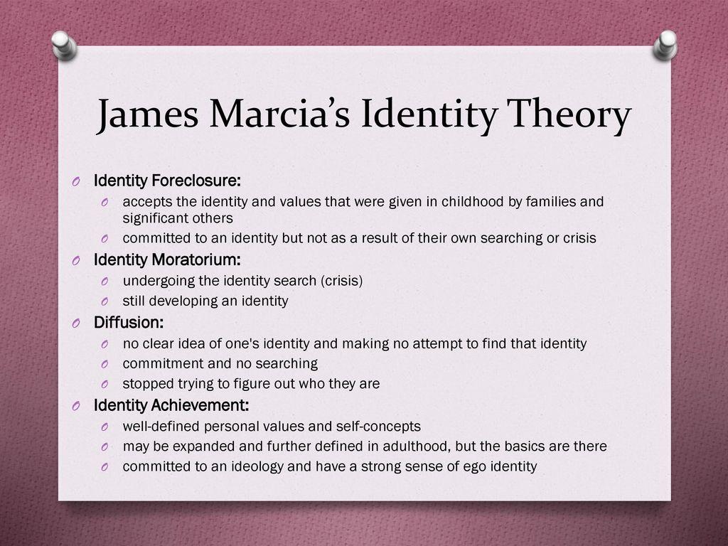 james marcia identity theory