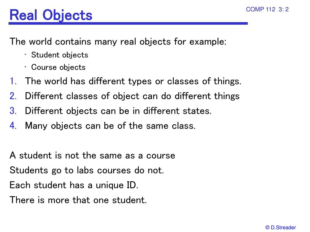 Objects Real and Java COMP T ppt download