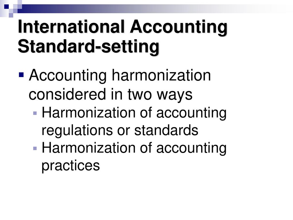 international convergence of accounting standards