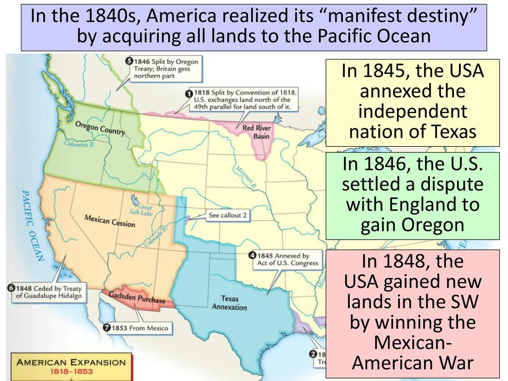 Essential Question How Did The American Desire For Manifest Destiny