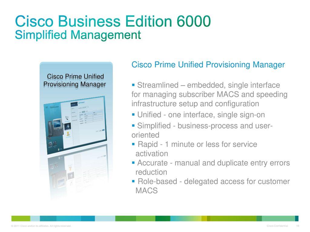 cisco business edition 6000 guide
