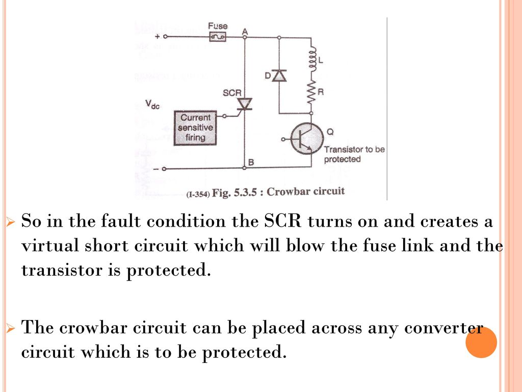 Ahmedabad Institute Of Technology Ppt Download Scr Triggering Using R Circuit Rc So In The Fault Condition Turns On And Creates A Virtual Short Which