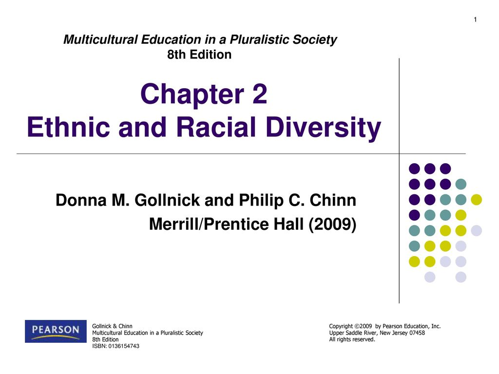 1 Chapter 2 Ethnic and Racial Diversity Multicultural Education in a Pluralistic  Society 8th Edition ...