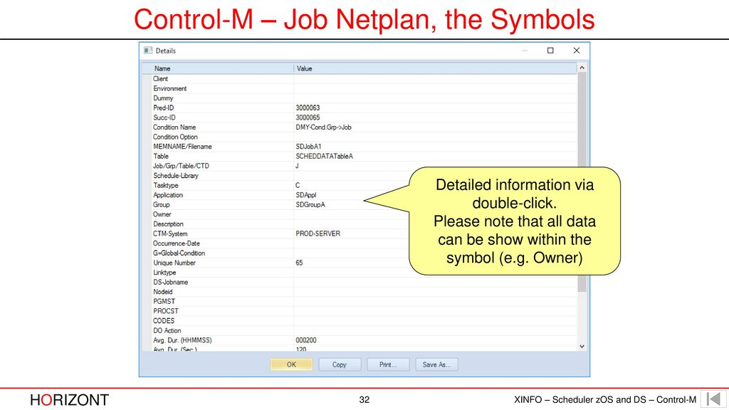 XINFO – Scheduler zOS and DS – Control-M - ppt download