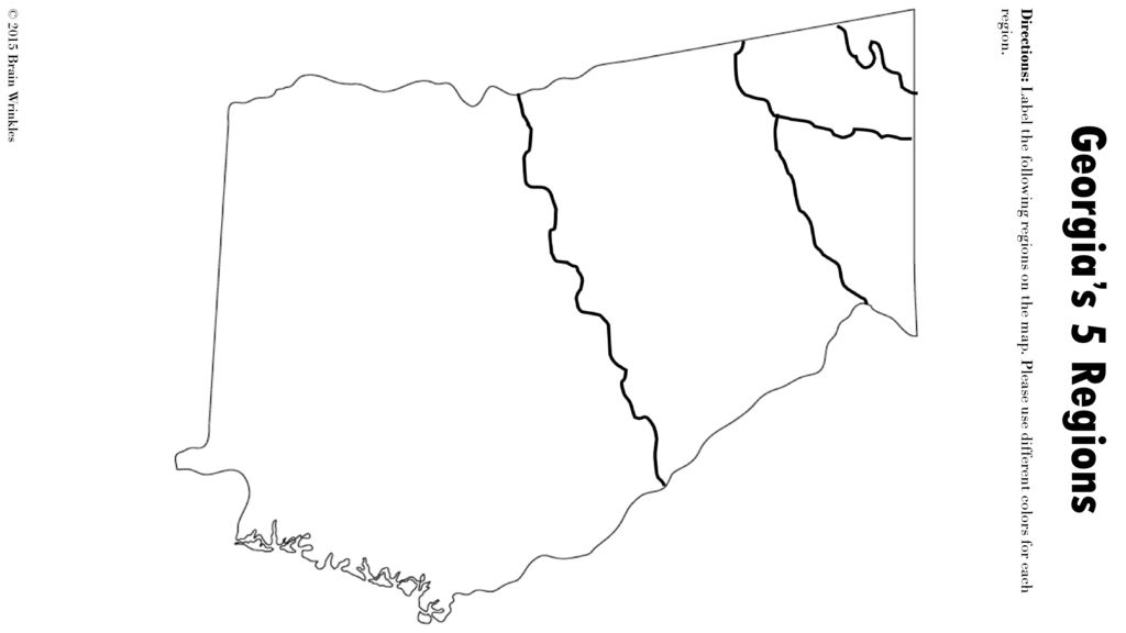 Map Of Georgia 5 Regions.Georgia S Geographic Regions Ss8g1b C 2015 Brain Wrinkles Ppt