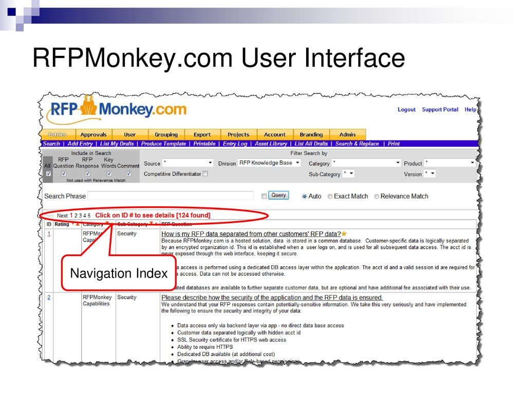 RFPMonkey com Agenda Overview Logging in Personal Settings