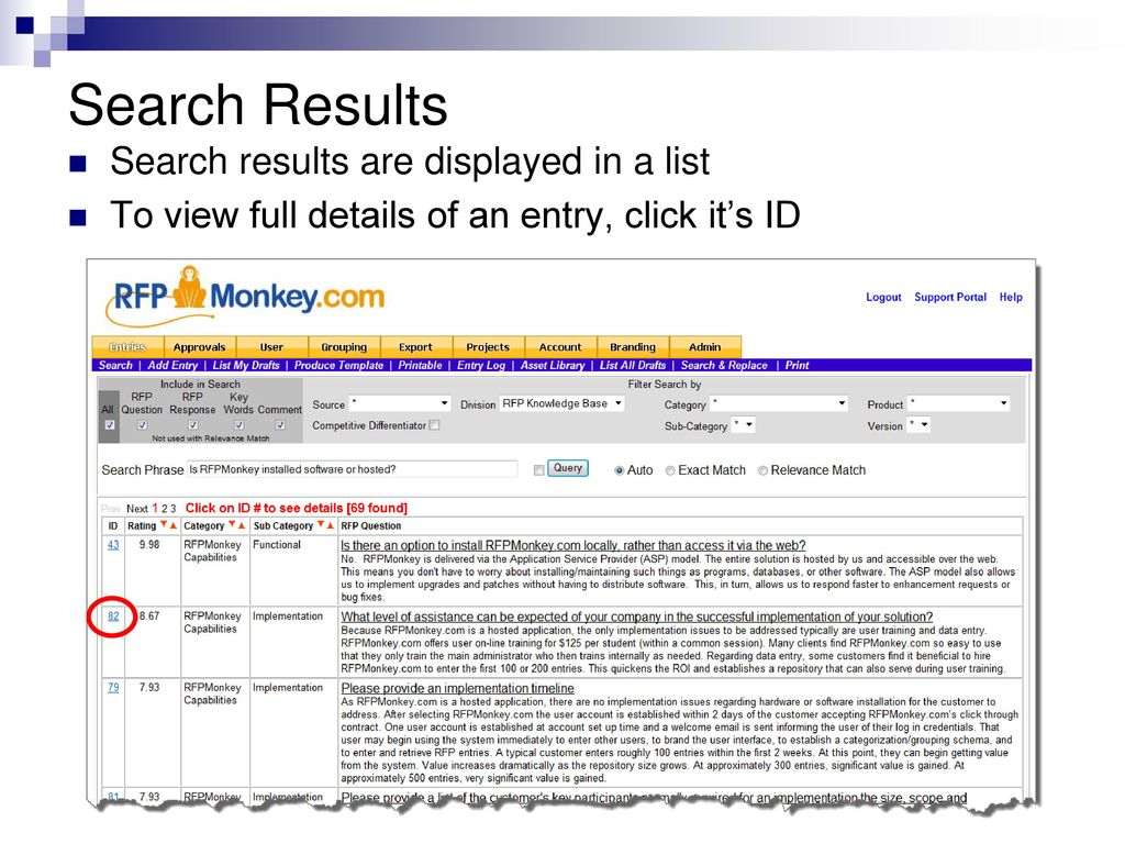 RFPMonkey com Agenda Overview Logging in Personal Settings - ppt
