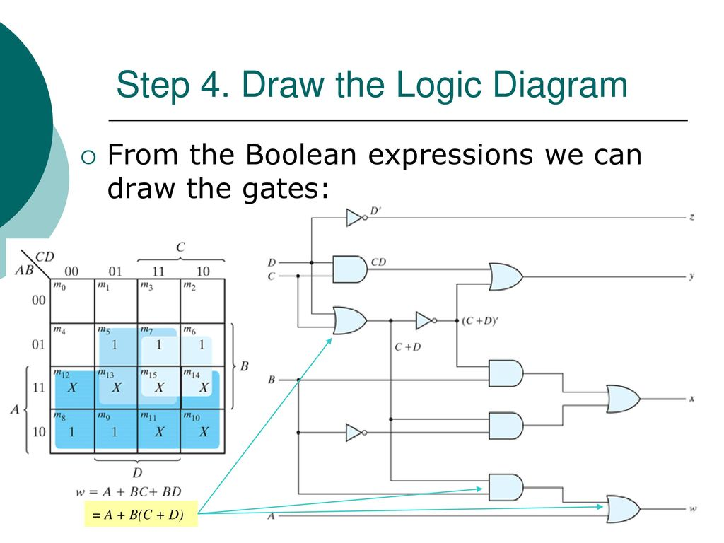 Egr 2131 Unit 4 Combinational Circuits Analysis Design Ppt Download Logic Diagram For Boolean Expression Draw The
