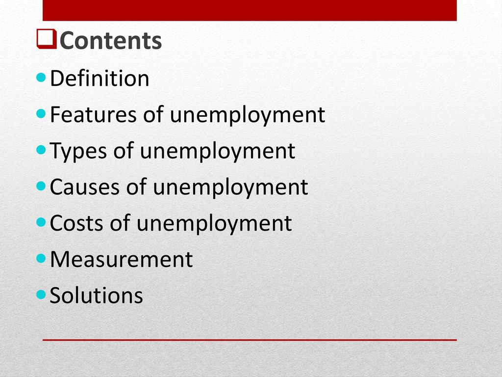 Types of unemployment and causes. Types and forms of unemployment 87