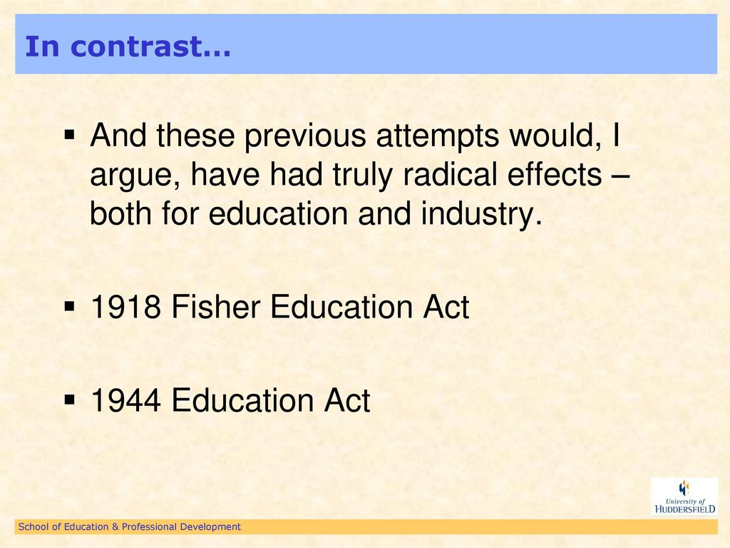fisher education act 1918