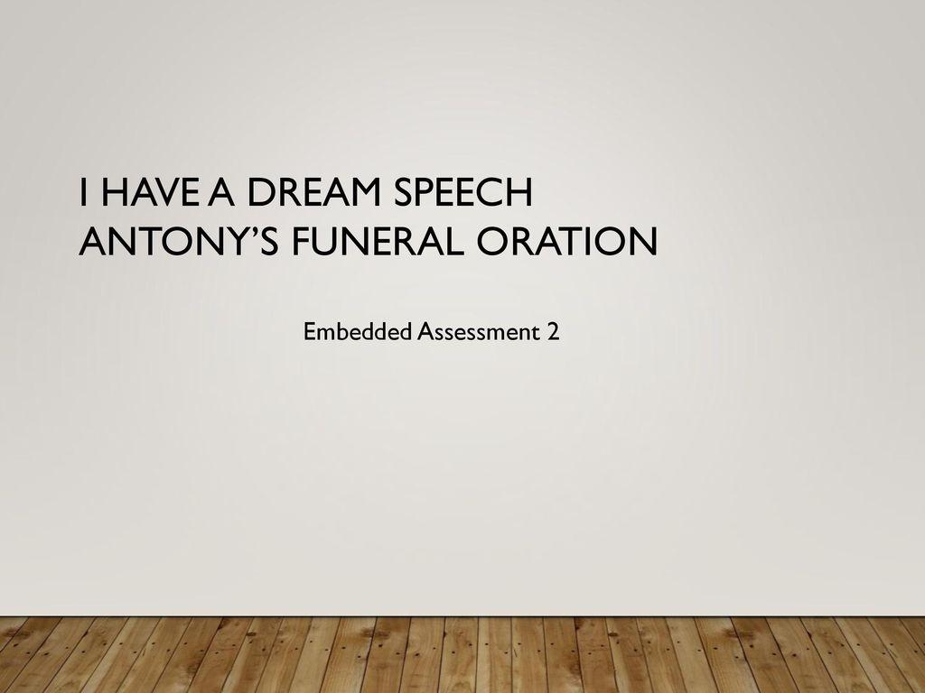 funeral oration speech