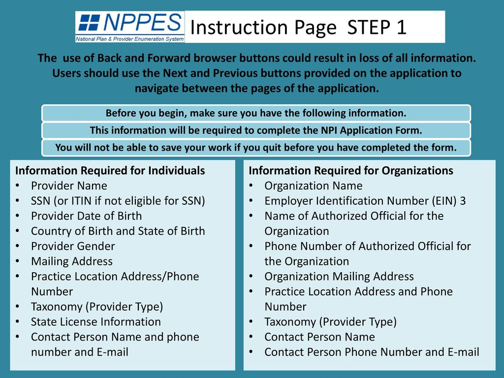 Applying for npi (gme website doc for all 3 sites).