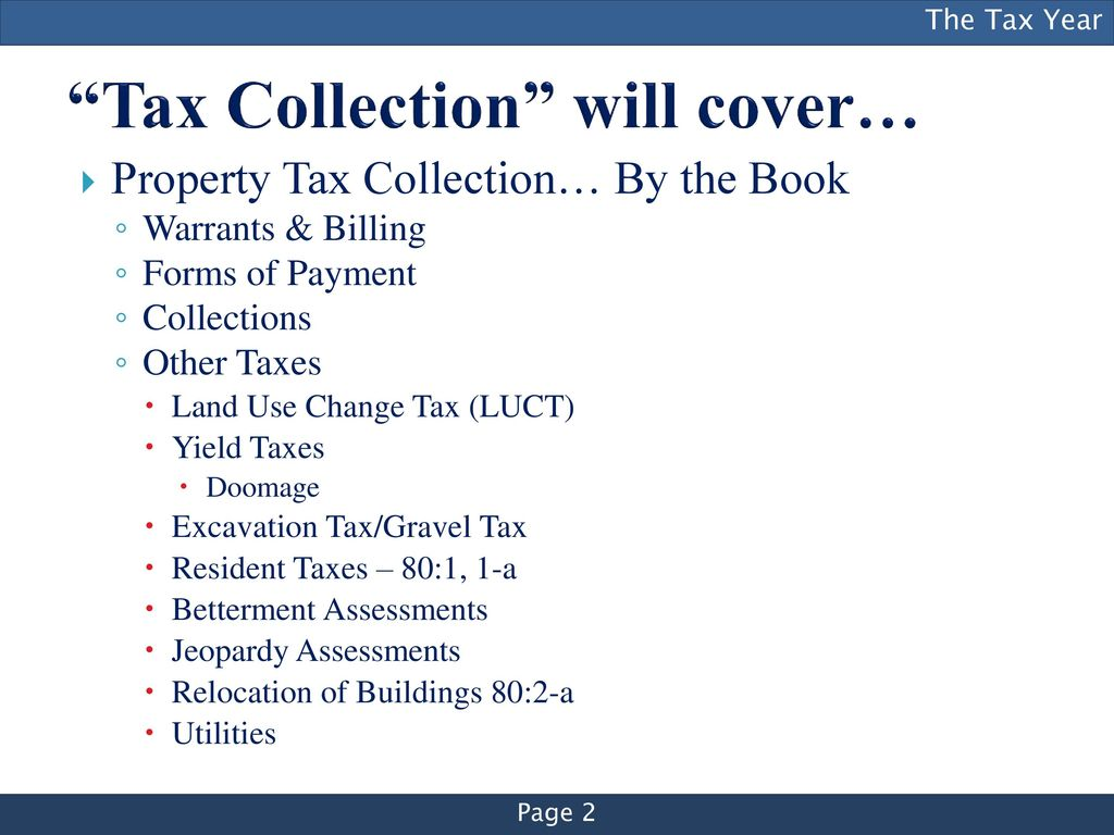 New Tax Collector Training Series - ppt download