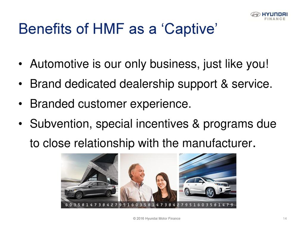 2016 Hyundai Motor Finance. 14 Benefits ...