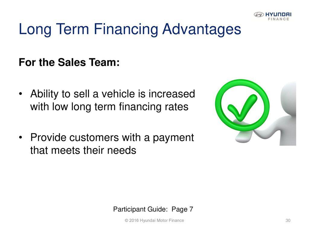 Long Term Financing Advantages