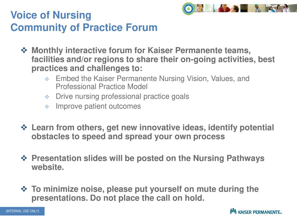 Thank you for joining today's Voice of Nursing Community of Practice