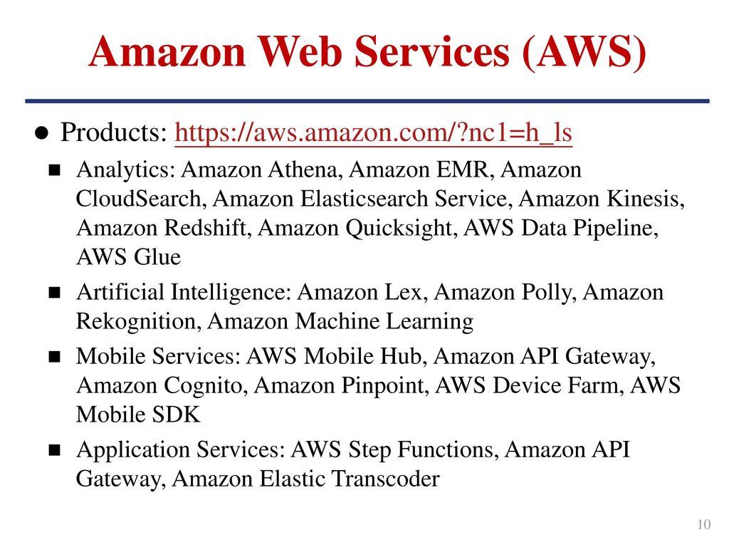 Outline Cloud Computing Amazon Web Services Azure Cloud Platform
