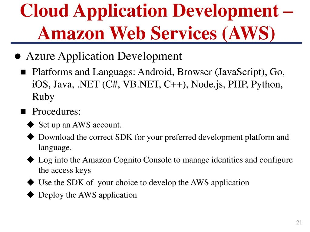 Outline Cloud Computing Amazon Web Services Azure Cloud