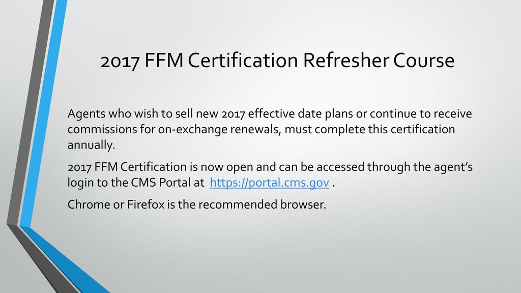 2017 Ffm Certification Refresher Course Ppt Download