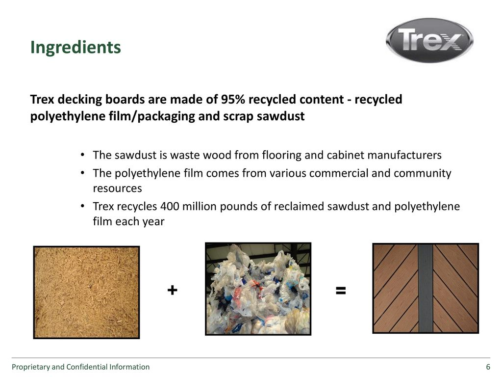 Trex Film Recycling and Public Outreach - ppt download