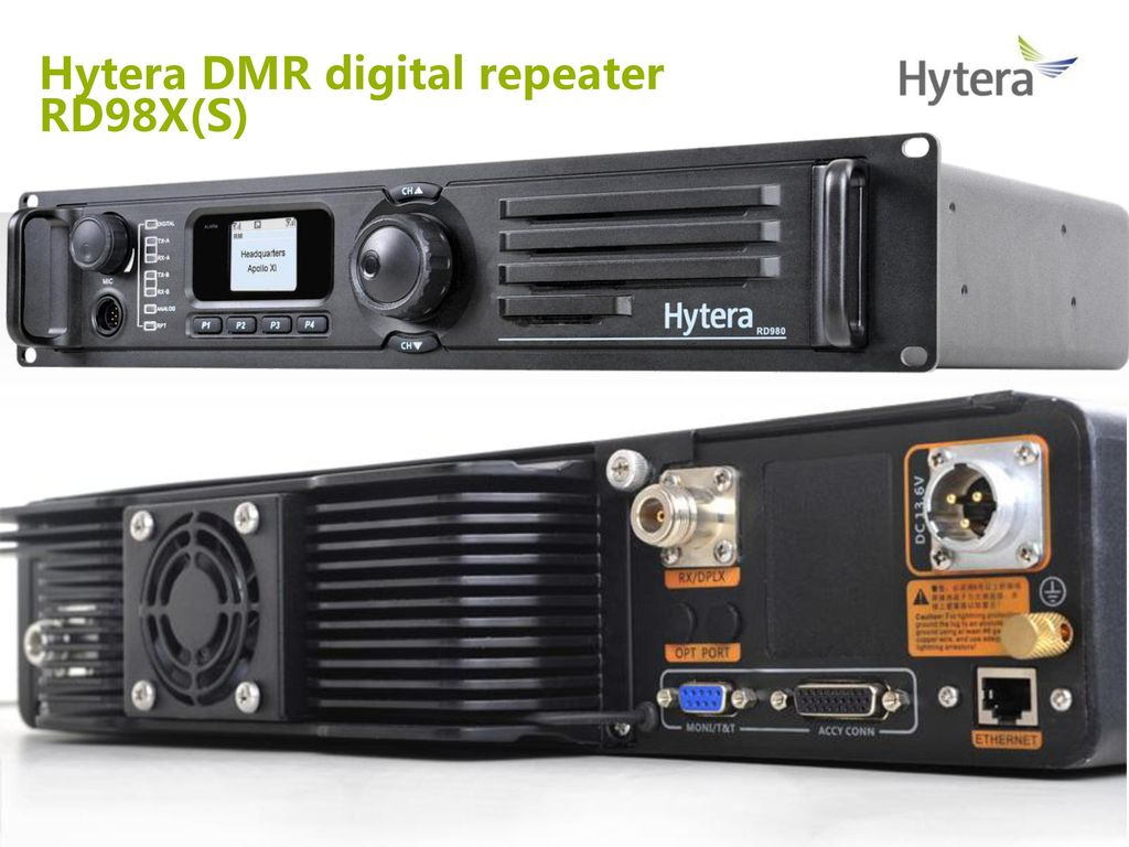 RD98X(S) network topology Hytera DMR repeaters comparison