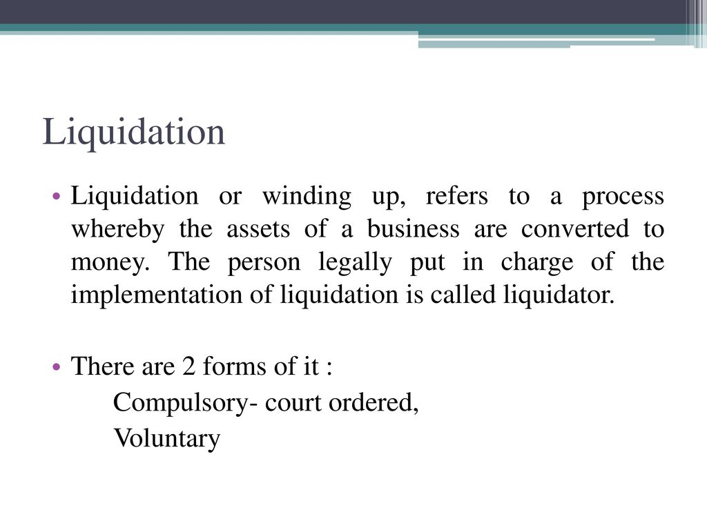 Liquidating business assets form