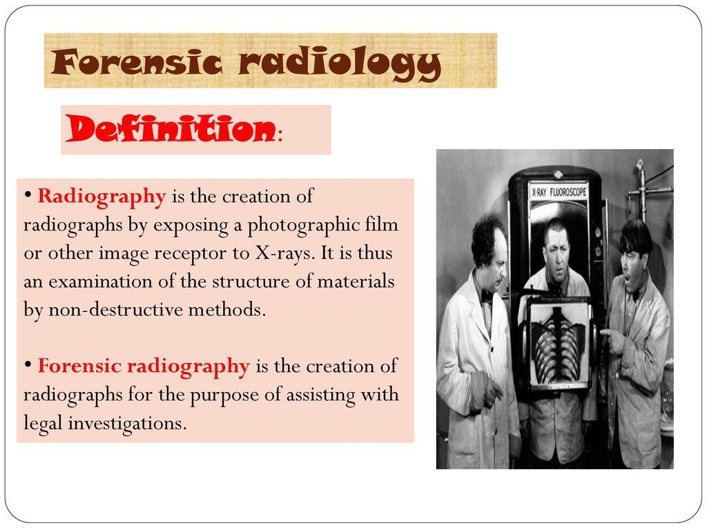 Forensic radiology Dr.Nashwa Mostafa Mahmoud - ppt download