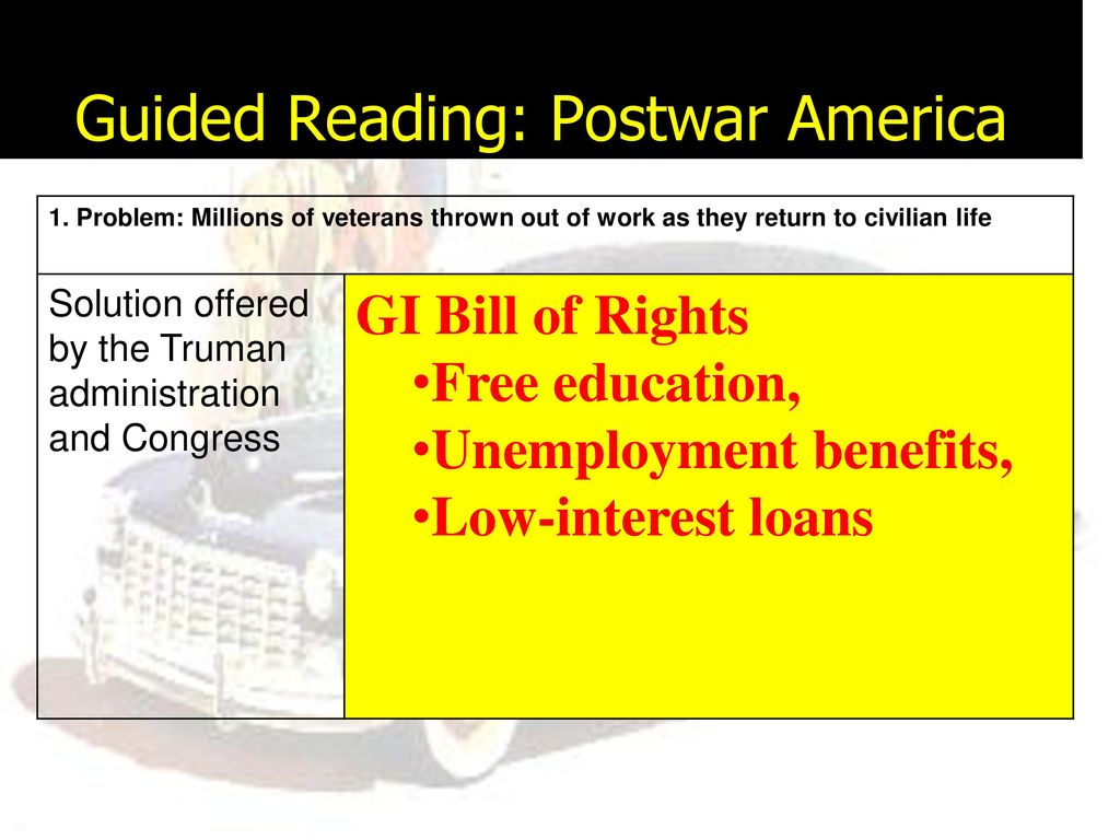 lesson objectives section 1 postwar america ppt download rh slideplayer com Postwar America Truman 19.1 postwar america guided reading