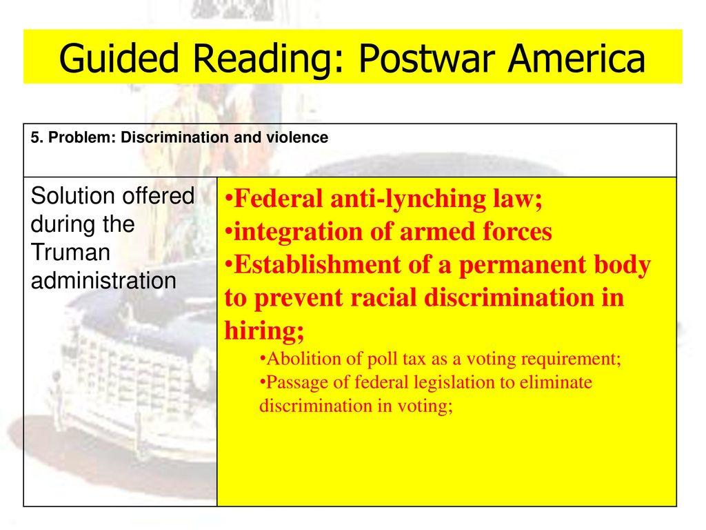 lesson objectives section 1 postwar america ppt download rh slideplayer com postwar america guided reading pdf chapter 27 section 1 postwar america guided reading answers