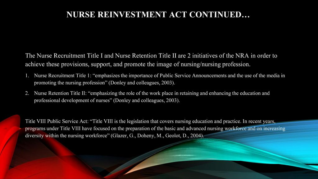 Nurse reinvestment act program strategy forex simple simon