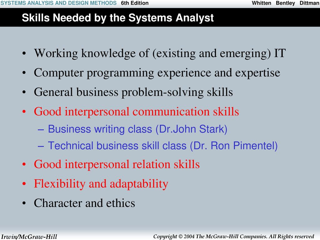 The Context Of Systems Analysis And Design Methods Ppt Download