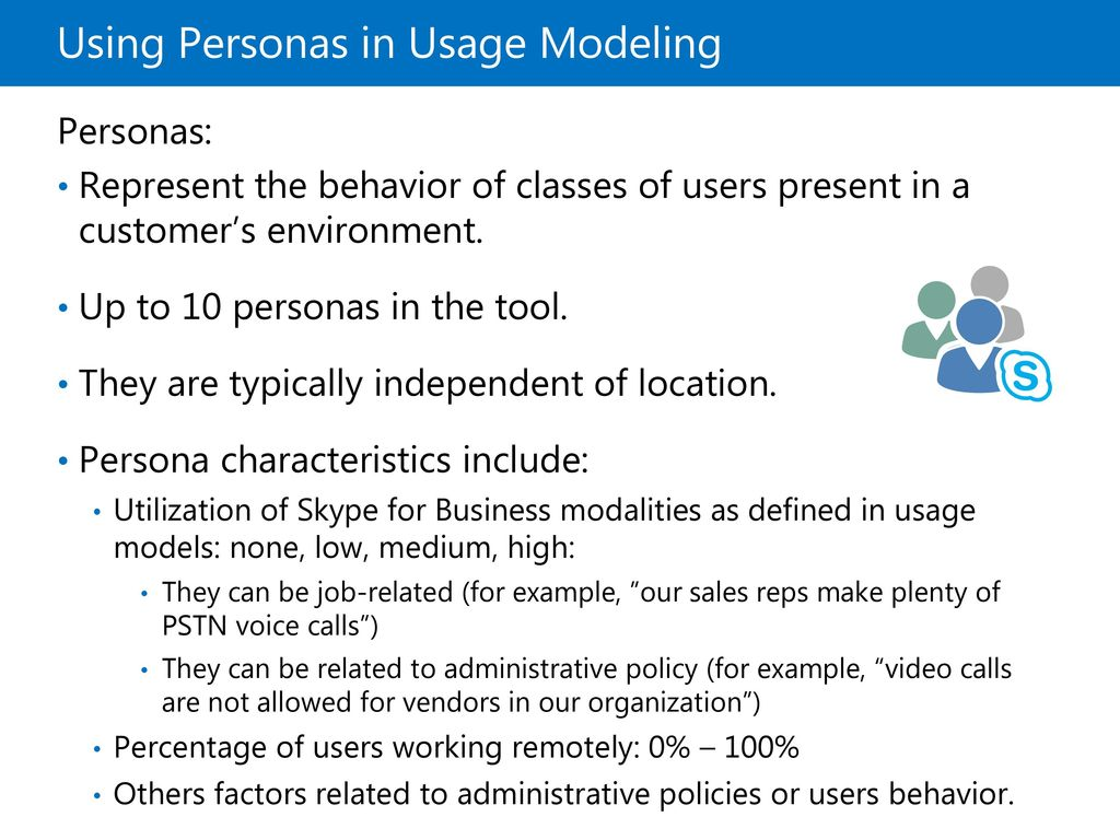 Using Personas in Usage Modeling