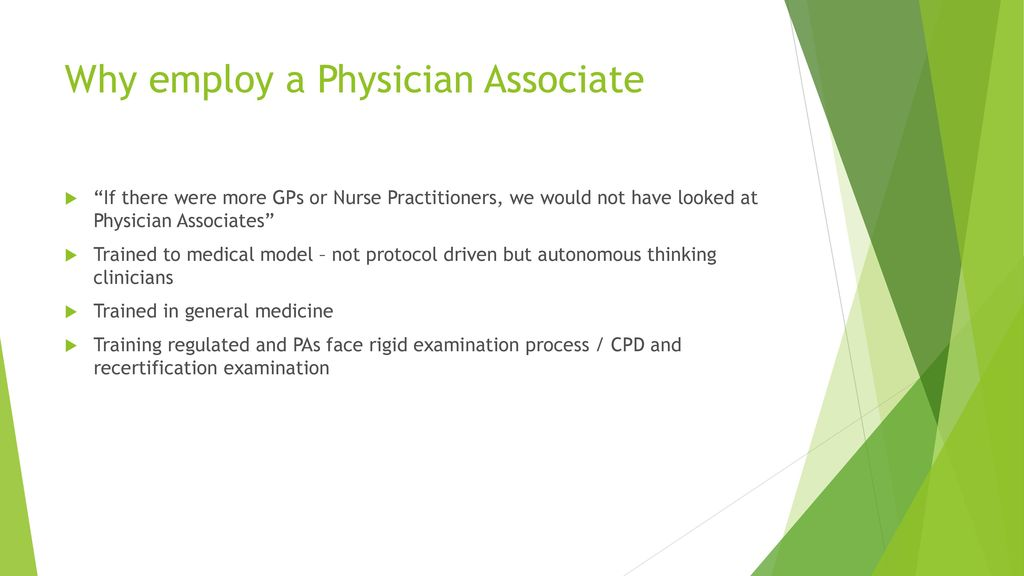 Physician Associate's in Primary Care - ppt download