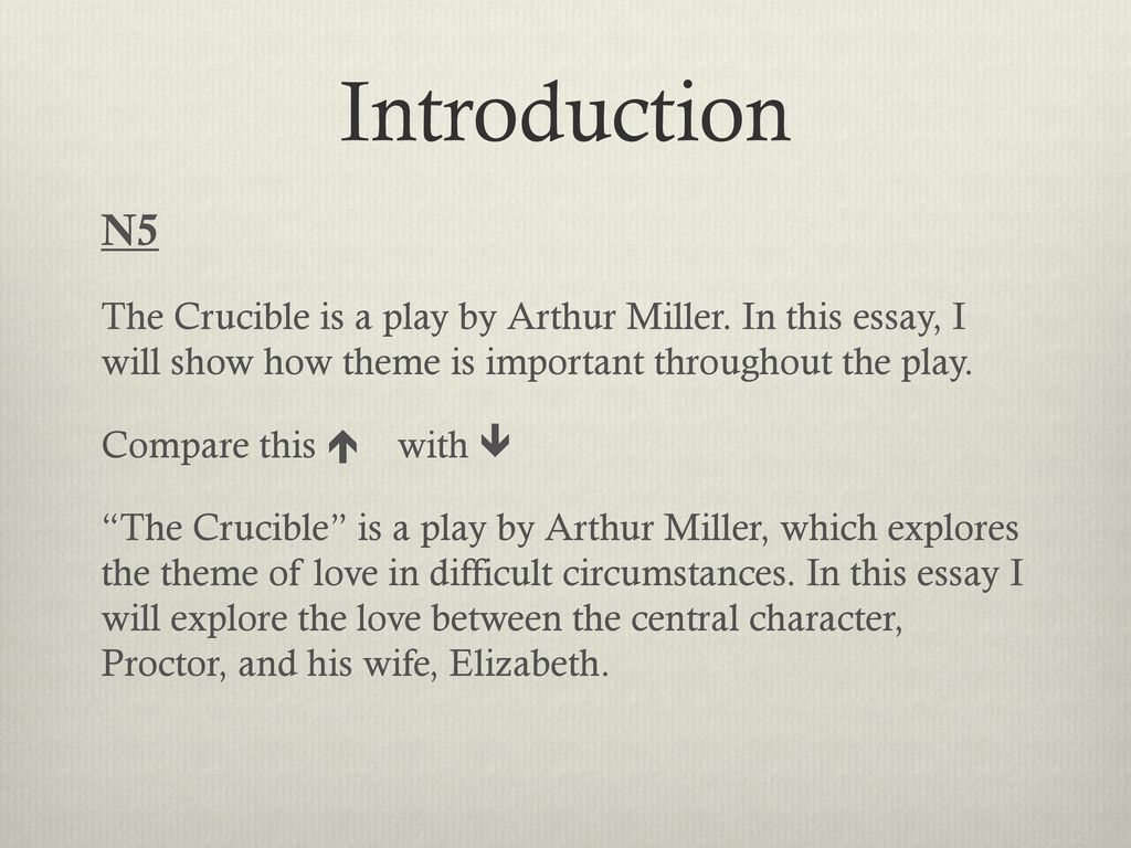 The Crucible By Arthur Miller  Ppt Download The Crucible Is A Play By Arthur Miller In This Essay Romeo And Juliet Essay Thesis also Essay For High School Application Examples  Business Plan Writers Memphis Tn