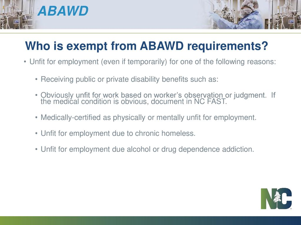 Abled Bodied Adults Without Dependents Abawd And Work Requirements