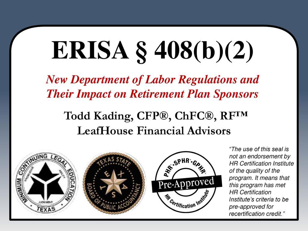 Todd Kading Cfp Chfc Rf Leafhouse Financial Advisors Ppt