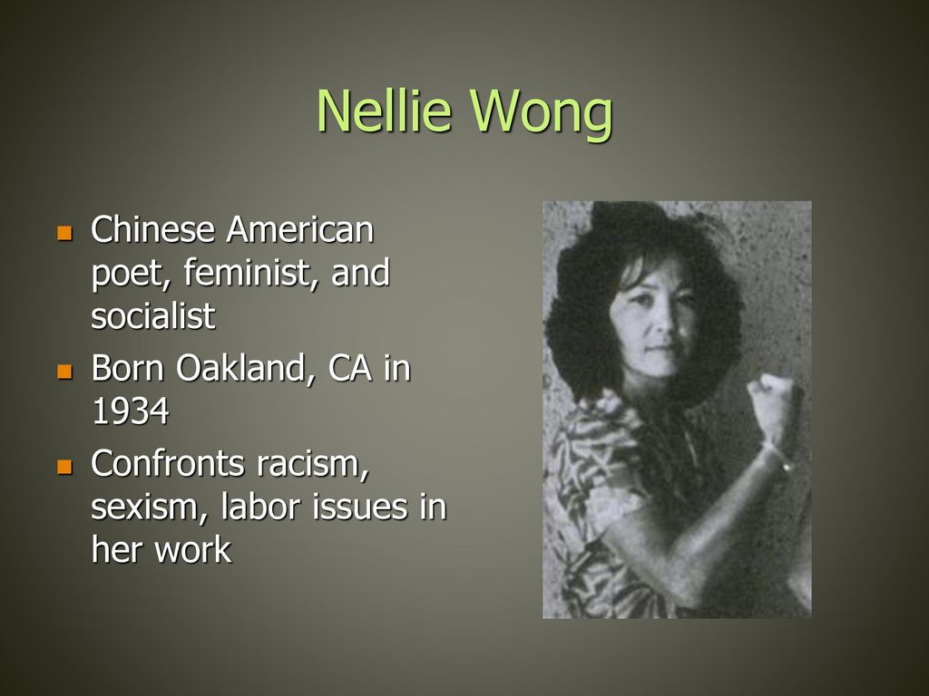 when i was growing up nellie wong