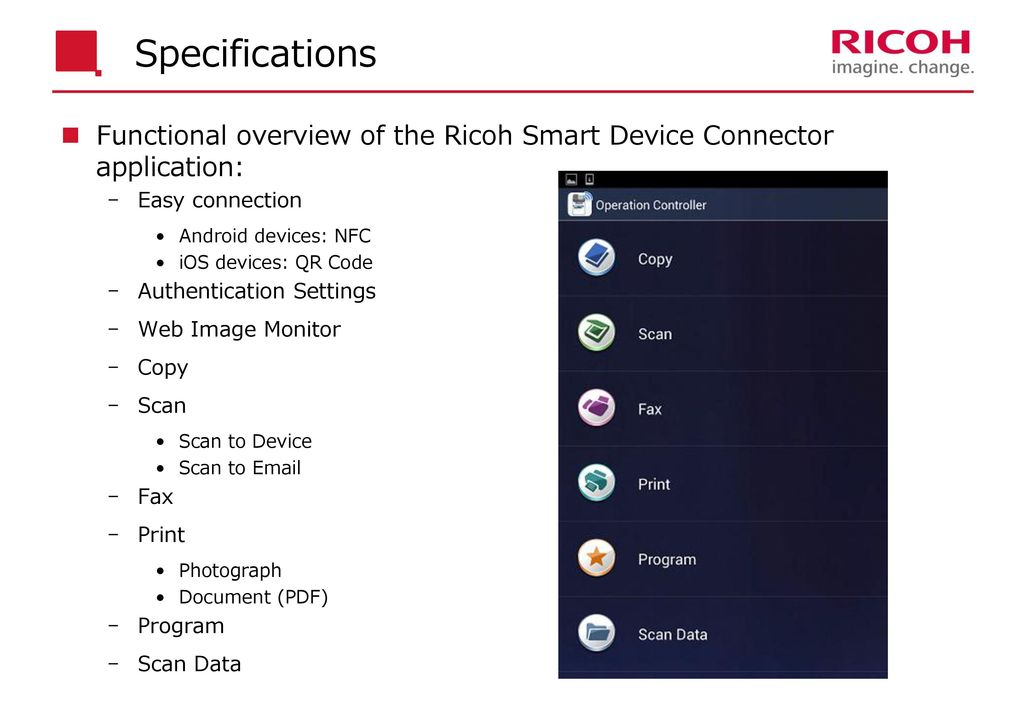 Technical Reference: Ricoh Smart Device Connector - ppt download