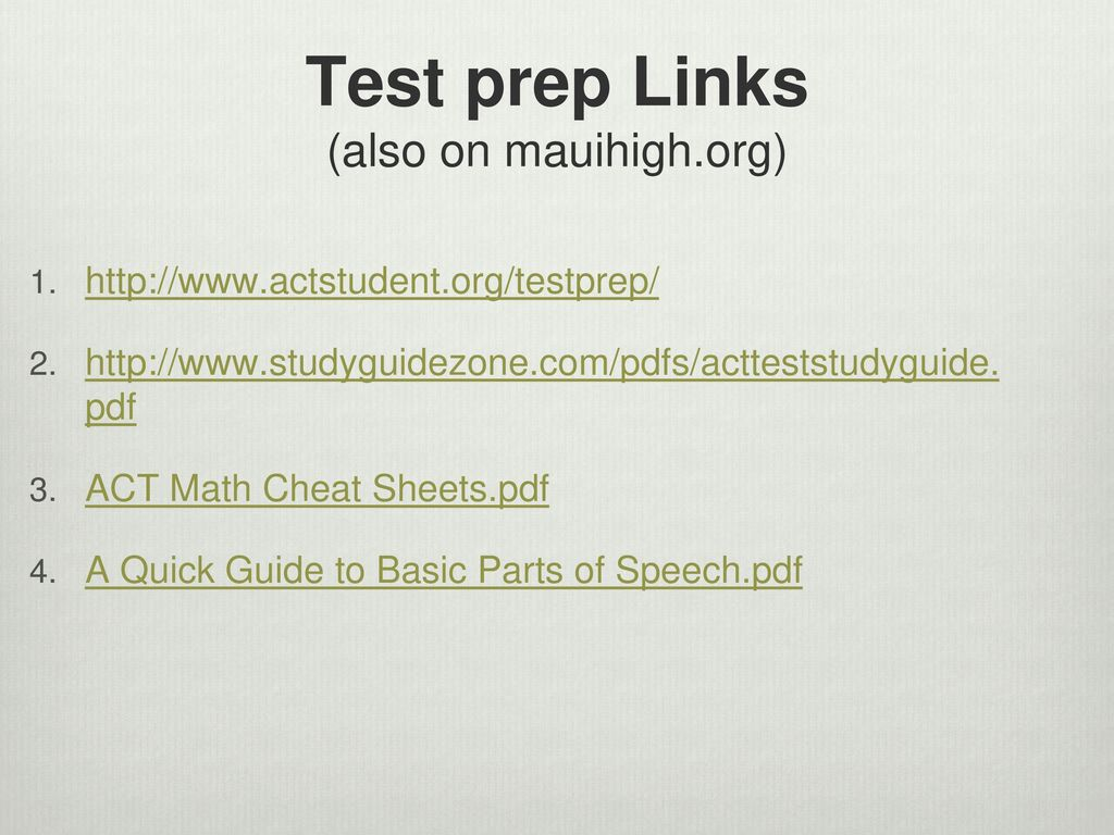parts of speech test pdf