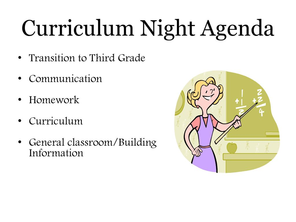 Bradford Woods Elementary Third Grade CURRICULUM NIGHT - ppt
