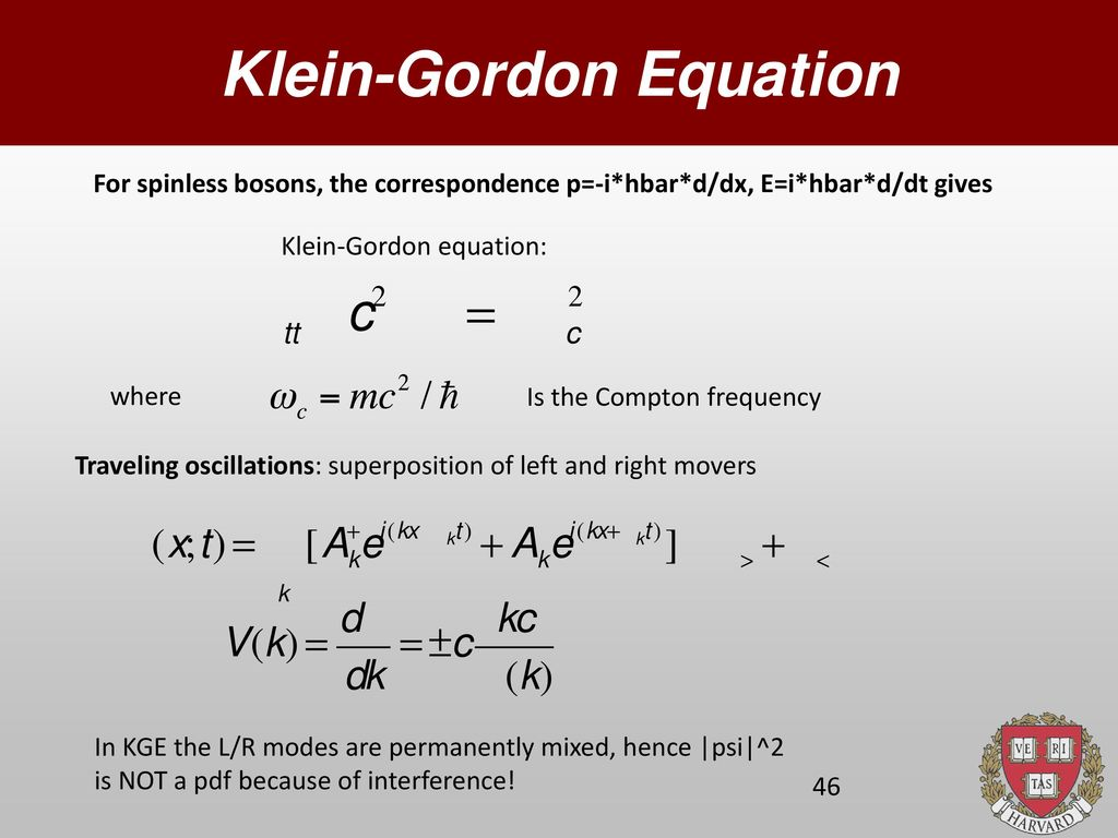 Numerical Solution of Quantum Wave Equations - ppt download